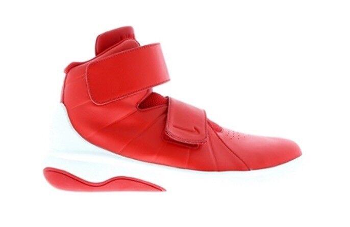 Homme Nike marxman Chaussures Sport Rouge en Cuir Blanc Baskets-