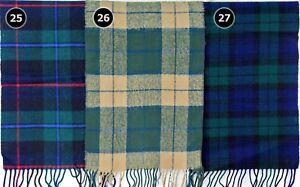 TARTAN SCARF Soft Touch Plaid Check Shawl Acrylic Wool Woollen Scotland 122-124