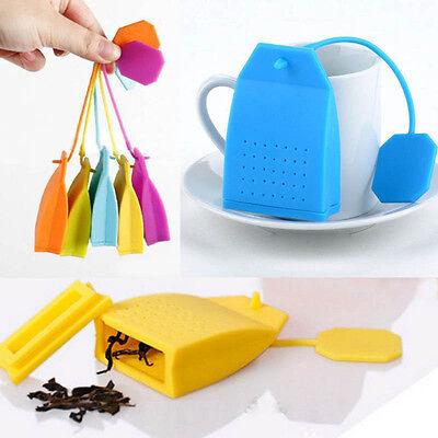 Cute Bag Design Silicone Tea Leaf Herbal Spice Infuser Filters Diffuser Strainer