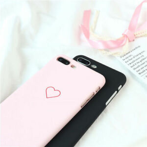 8c23a81b38 New Fashion Love Heart Painted Phone Case For iphone 5S 6 7 8 Plus ...