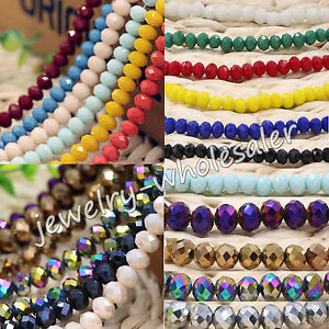 Wholesale-Rondelle-Faceted-Crystal-Glass-Loose-Spacer-Beads-Finding-4-6-8-10mm