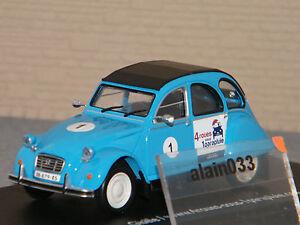 Citroën 2cv6 Bleue N°1 Eligor 1/43 Ref 101608 4 Roues Sous Un Parapluie