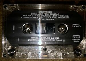 HALLOWEEN-III-3-ORIGINAL-SOUNDTRACK-CASSETTE-TAPE-SUPER-RARE-JOHN-CARPENTER-1982
