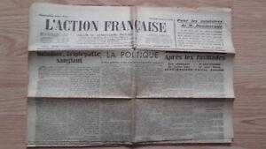 JOURNAL-NATIONALISTE-L-039-ACTION-FRANCAISE-14-FEVRIER-1934-N-45-ABE