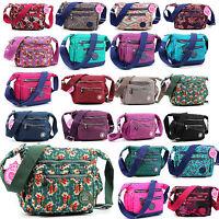Women Multi Pocket Messenger Cross Body Handbag Ladies Hobo Bag Shoulder Bag