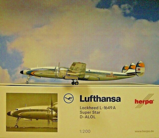 Herpa Wings 1:200  Lockheed L-1649A  Lufthansa  D-ALOL  Super Star  559805