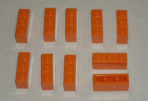 10x LEGO NEW 1x3 Orange Brick 4118787 Brick 3622