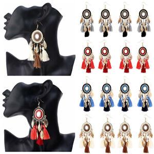 2018-Women-Bohemian-Long-Tassel-Fringe-Boho-Metal-Leaf-Dangle-Earrings-Jewelry