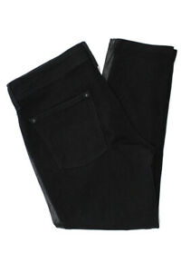 DL1961-Womens-Mid-Rise-Skinny-Slim-Jeans-Pants-Black-Cotton-Leather-Size-30