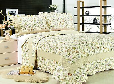 66- All For You 3PC quilt set, bedspread and coverlet-4 Sizes available