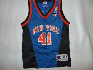 0b0c4c3e3b87 Vintage Champion NY KNICKS Glen Rice  41 Jersey Youth Kids Sz Small ...