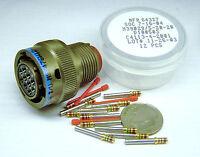 Aircraft C130 B1b F15 A10 Unicor Ms3476w12-10sx Connector Plug 10 Gold Pin