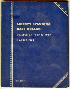 Whitman-Liberty-Standing-Half-Dollar-Collection-1937-to-1947-No-2-9027