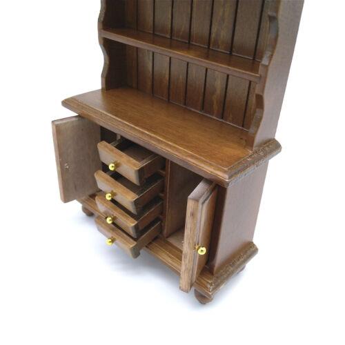 Dollhouse Miniature Bookcase Bookshelf Cabinet Furniture 1:12 Scale Model