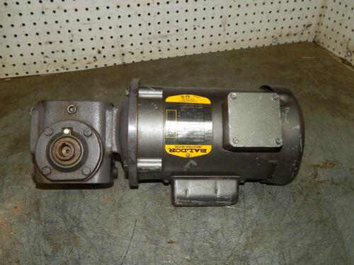 HP 1725RPM with Browning Gear Reducer SM133C1-15 Baldor Motor KL3400 1//6 .166