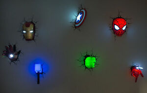 Marvel avengers wall lights