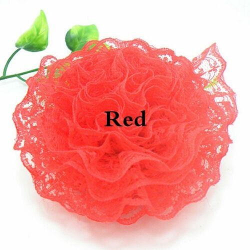 3M Pleated Floral Lace Ruffle Trim Ribbon Dress Frill Sewing Edge Trimming Craft