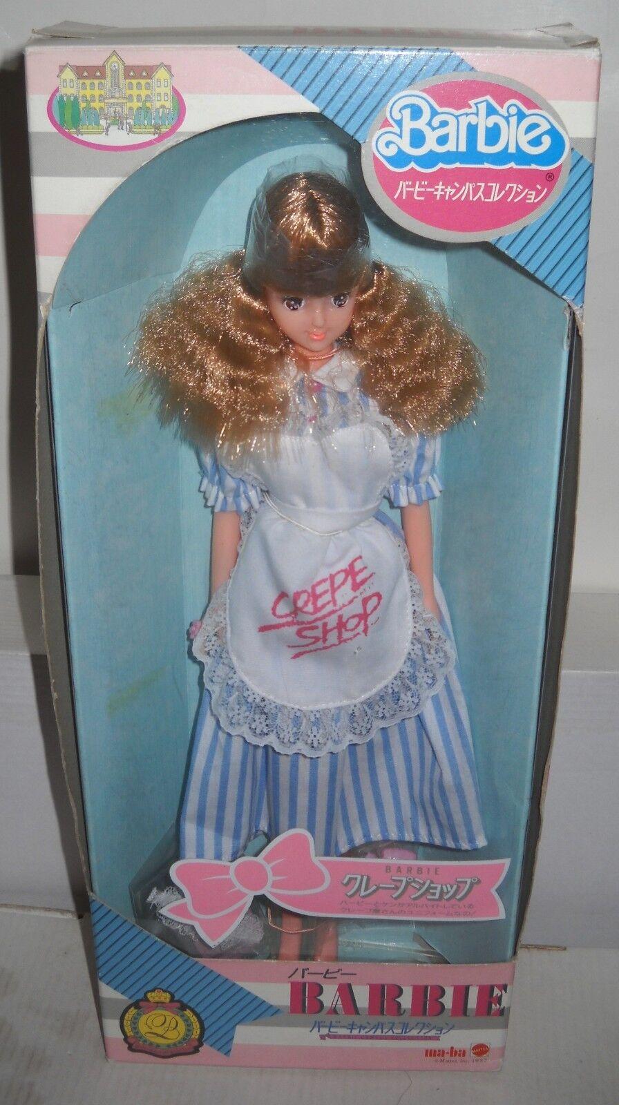 Raro nunca quitado de la caja vintage ma BA Japón Crepe Shop Barbie campus Collection
