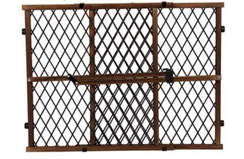 Dark Wd Evenflo Position and Lock Farmhouse Pressure Mount Gate Baby-Pet Gate