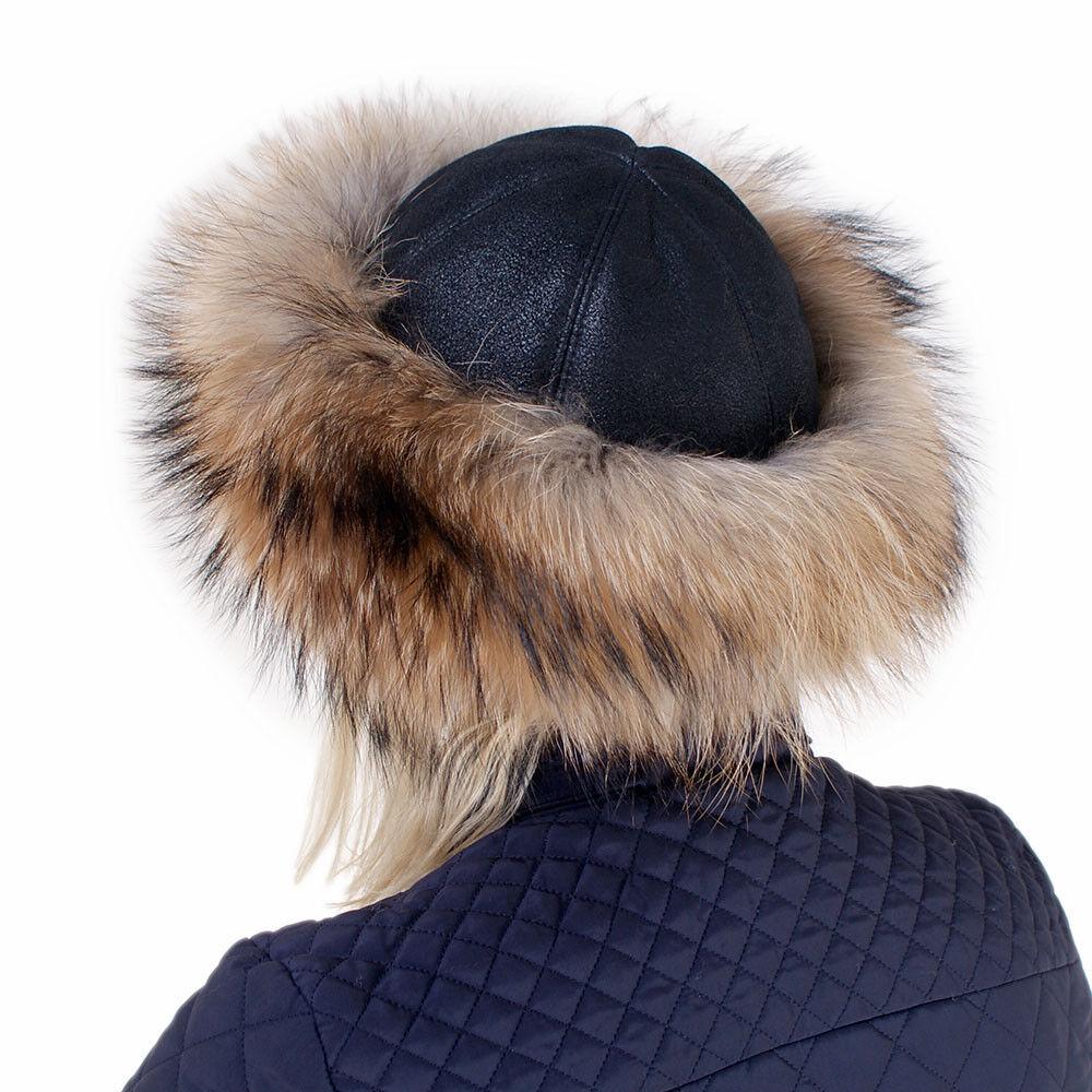 Pelzmütze aus Finn Raccoon mit mit mit Lammfell NEU  Fellmütze Kappe aus Waschbär FOX | Vorzügliche Verarbeitung  | Langfristiger Ruf  | Spielzeugwelt, spielen Sie Ihre eigene Welt  f6978b