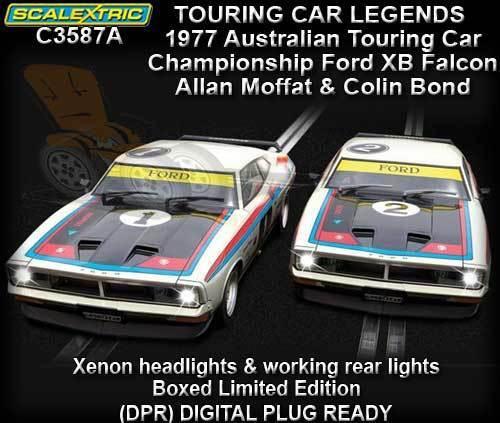 Scalextric C3587A - 2018 ATCC XB Falcon X 2 Slot Cars-A. Moffat & C. Bond