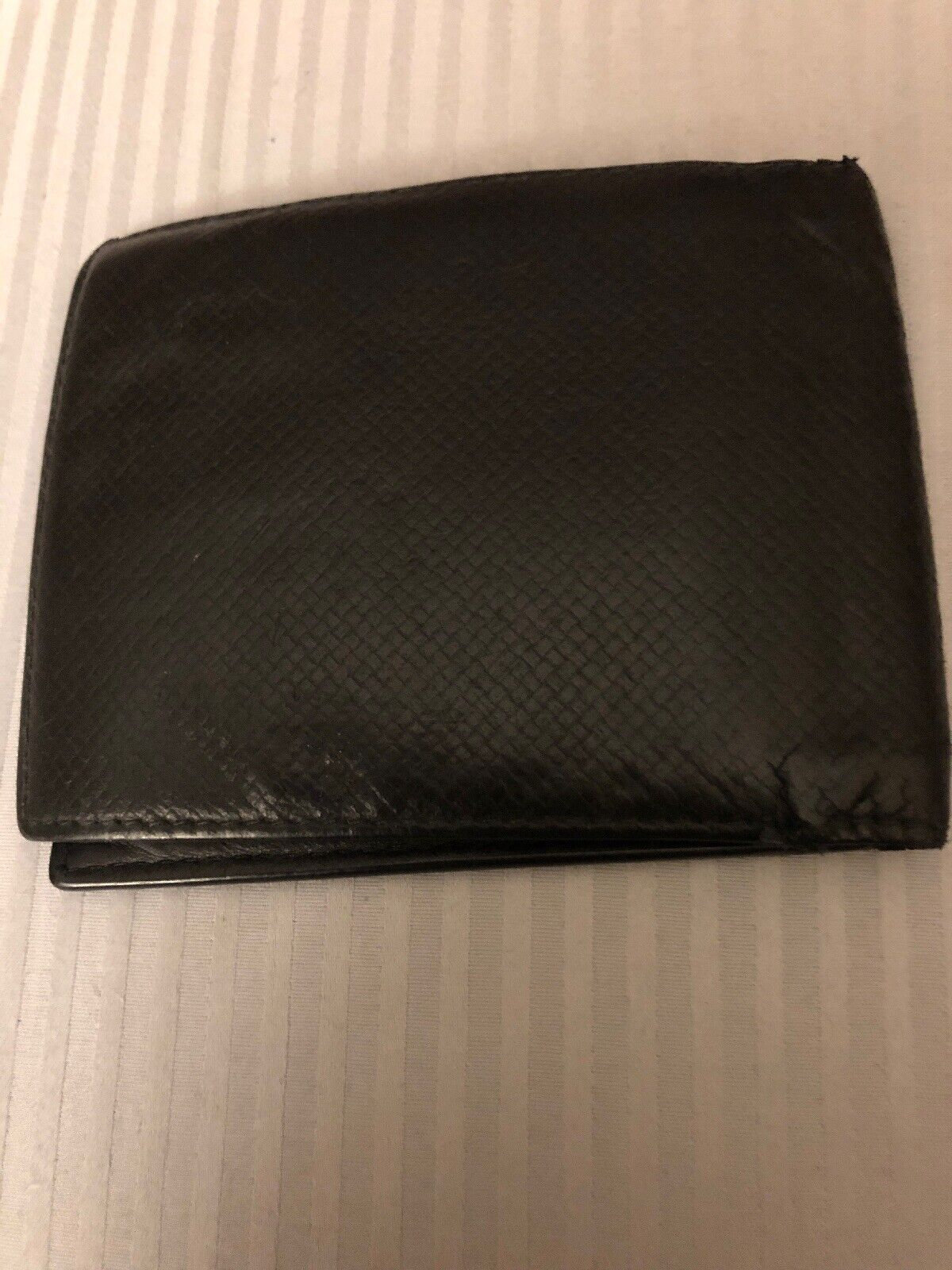 Montblanc Black Leather Men's Bi-Fold Wallet