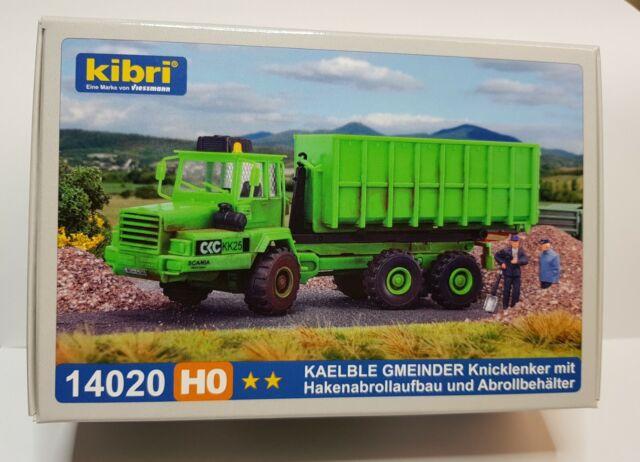 Kibri 14020 KAELBLE GMEINDER Knicklenker /& Hakenabrollaufbau Bausatz,H0