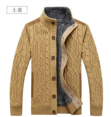 forrada alto abrigo de Fit caballero para Slim terciopelo espesar tejer lana cuello chaqueta de de de Escudo ad7Wq0Iw7