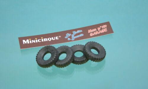DO06-4 pneus noirs bande carrée 20//8 pour Dinky Toys GAK brasseur 588