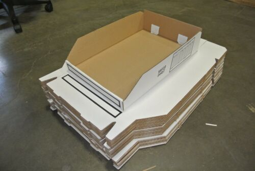 """WHSE #18525 SAFCO 445748 Corrugated Bin 18/"""" Length x 12/"""" Width x 4/"""" BOX OF 48"""