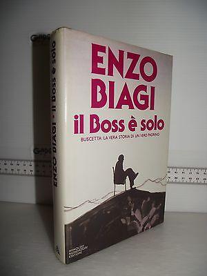 LIBRO Enzo Biagi IL BOSS è SOLO Buscetta la vera storia di un vero padrino 5^ed.