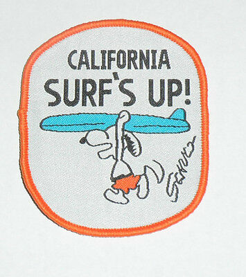 SNOOPY California Surf's Up! Embroidered sew-on Patch New 3""