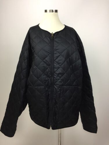 Excellent Black Bauer Xl Collarless Down Goose Eddie Jacket Quiltet 85qwn7