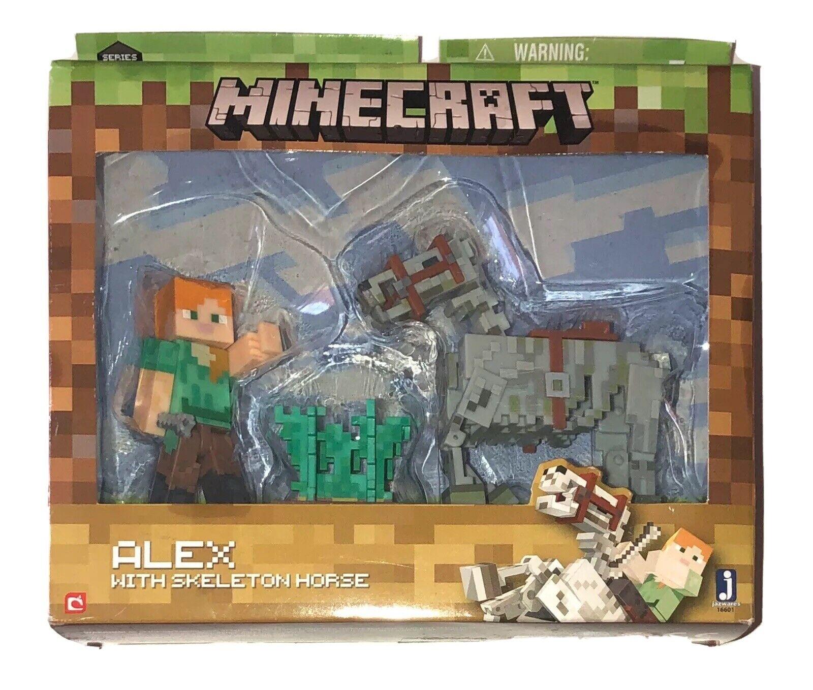Minecraft 16601 Alex Figure with Skeleton Horse