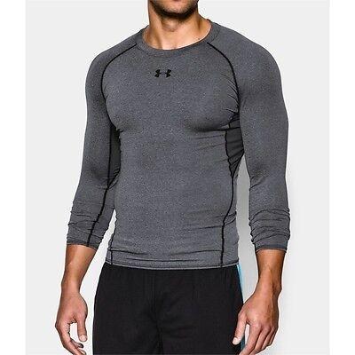 Mens Under Armour HeatGear Shirt UA Heatgear Top Grey NEW 1257471