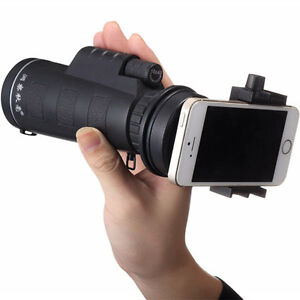 Universal 10x40 Hiking Concert Camera Lens Zoom Telescope+Smart Phone Holder