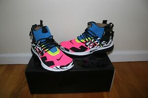 sale retailer 10a22 45c0d Image is loading Nike-Air-Presto-Mid-Acronym-Racer-Pink-Size-