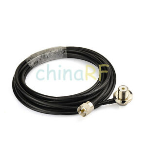 RG58 PL259 UHF to SO239 Connectors for Car Radio Mobile Antenna Mount Cable 16ft