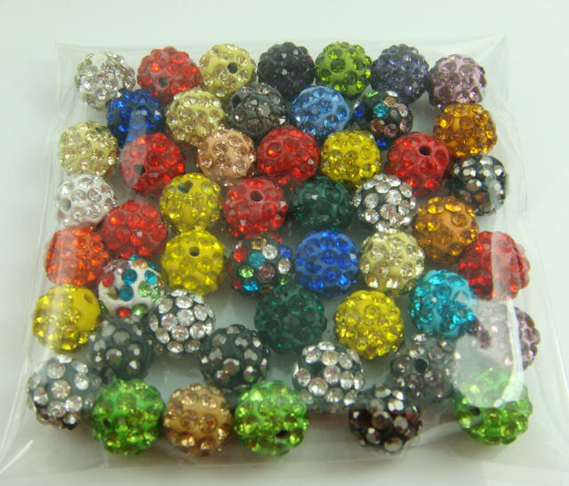 new 10mm Disco Ball Clay Cz bead for shamballa Accessories charm Wholesale Lots