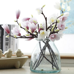 Image Is Loading 3D Printing Artificial Magnolia Flowers Silk Plastic For