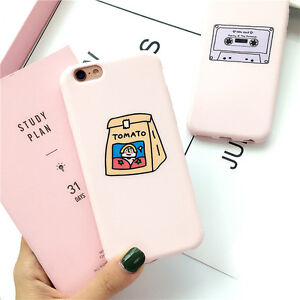 best service 24503 7149f Details about For iPhone X XSMax XR 6S 7 8Plus Cute Pink Cartoon Pattern  Soft Phone Case Cover