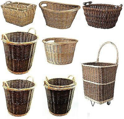 Large Wicker Woven Willow Basket Cart Store Handle Log Toy Laundry Hamper Value Om Te Genieten Van Een Hoge Reputatie Thuis En In Het Buitenland