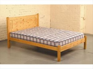 Solid Antique Pine 4ft 34 Size Small Double Vegas Bed Frame