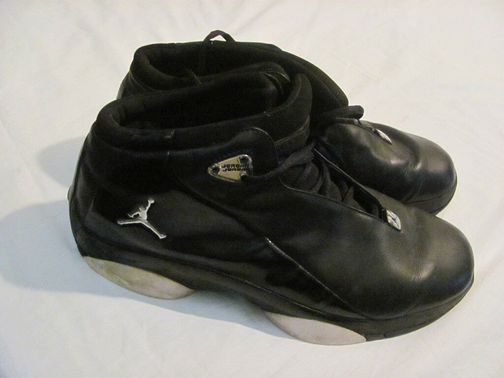 Men's Air Jordan Jumpman Team Flow Basketball shoes Black Leather Size 12
