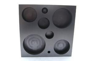Fine-Grain-Graphite-8-in-1-Circle-Shape-Mold-Glass-Boro-FREE-US-SHIP