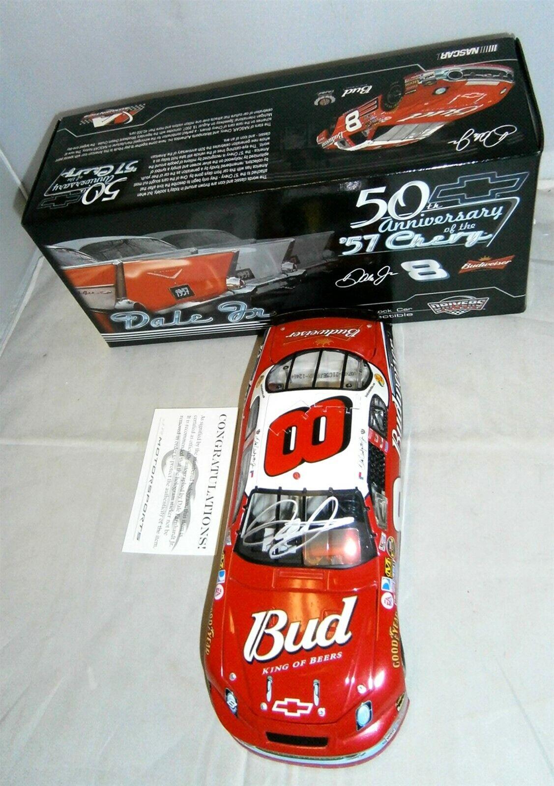 tomamos a los clientes como nuestro dios 1 24 acción acción acción 2007  8 Budweiser 1957 Chevy Dale Earnhardt Jr autografiada Holograma  mejor marca
