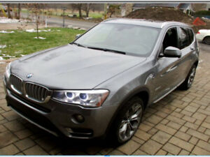 BMW X3 28i year 2016 - 79000 km - excellent condition