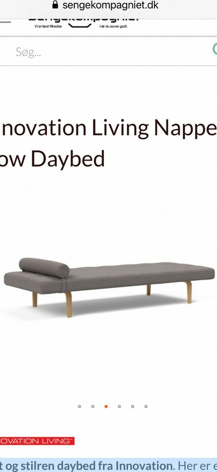 Daybed, polyester, 1 pers.