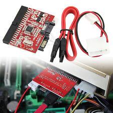 UK 3.5 IDE a SATA / SATA a ide ATA100/133 HDD Adattatore Convertitore + Cavi PC