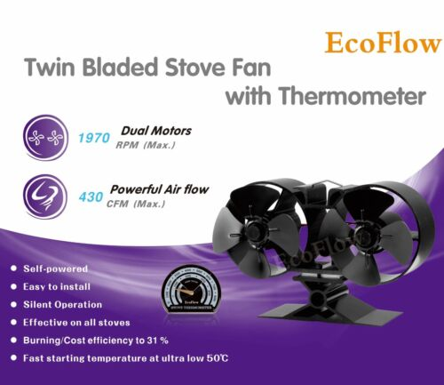 Holzofen Mini Einzelbett 8 Ventilatorflügel mit Ofen Ecoflow 2018 Design Holz